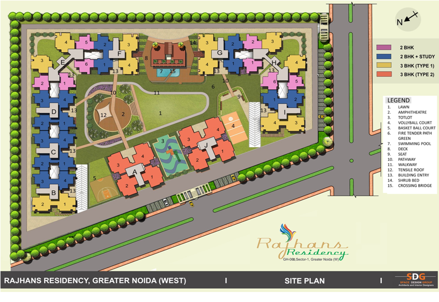Rajhans Residency Site Plan